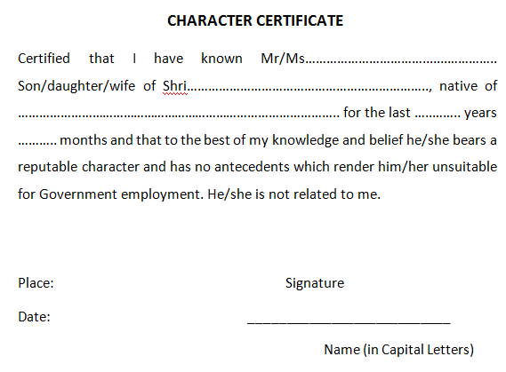 character certificate template 6.
