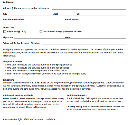 Handyman Contract Templates on Bill Of Rights Activity Sheet