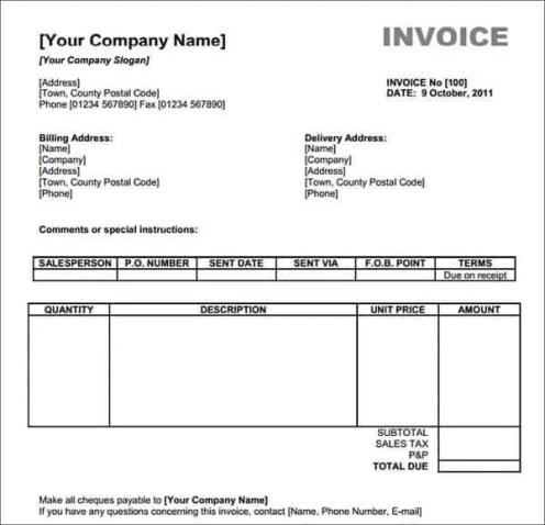 invoice template 6.