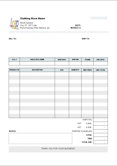 invoice template 8.