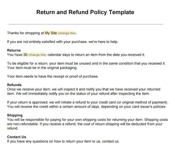 how your return policy can affect customer retention termsfeed ...