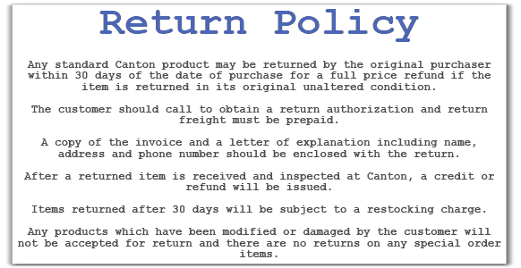 return policy template 2.