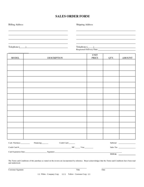 sales order template 5.