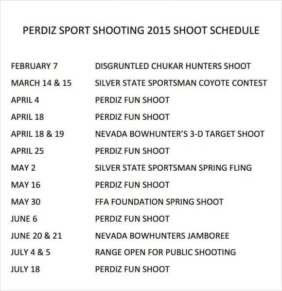 shooting schedule template 8.