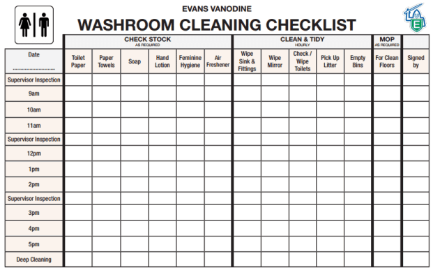 toilet cleaning checklist template 5.