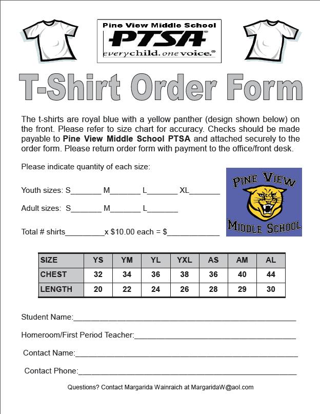 Tshirt Order Form 1.