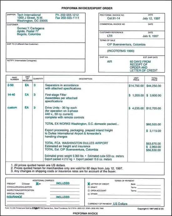 Proforma Invoice Format Doc. Simple Proforma Invoice Template