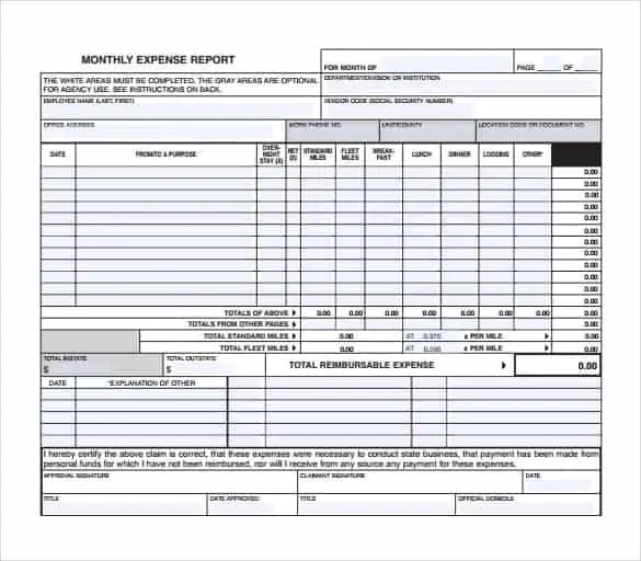 Expense Report Templates - Find Word Templates