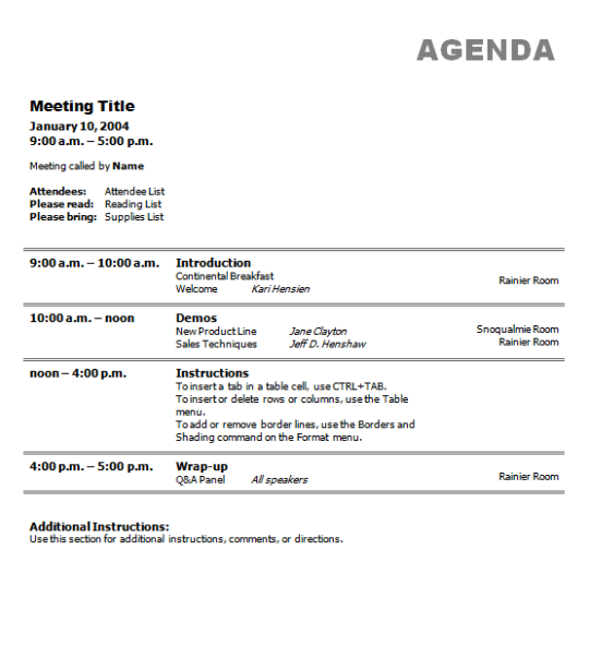 meeting agenda template 7.