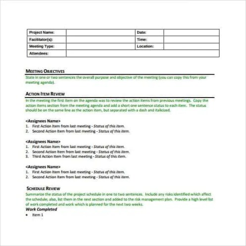 meeting minutes template 2.