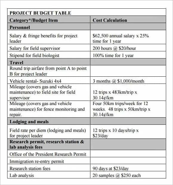 project budget template 1.