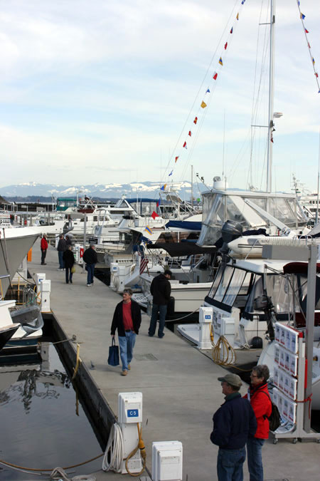 Anacortes Floating Boat Show Docks On The Water Yacht