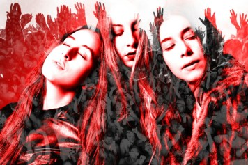 Haim Portrait Art Red