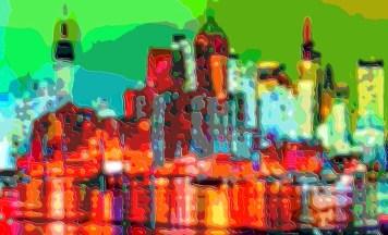 Cutout Layer Art City