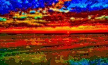 Landscape Sunset Ocean Art