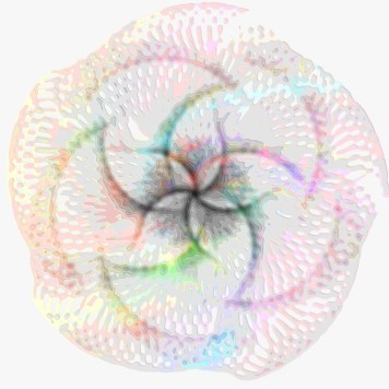 Spirograph Layer Art Red Spin