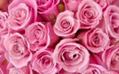 Flower Layer Art Pink Roses