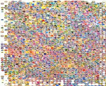 Abstract Color Circa Grid