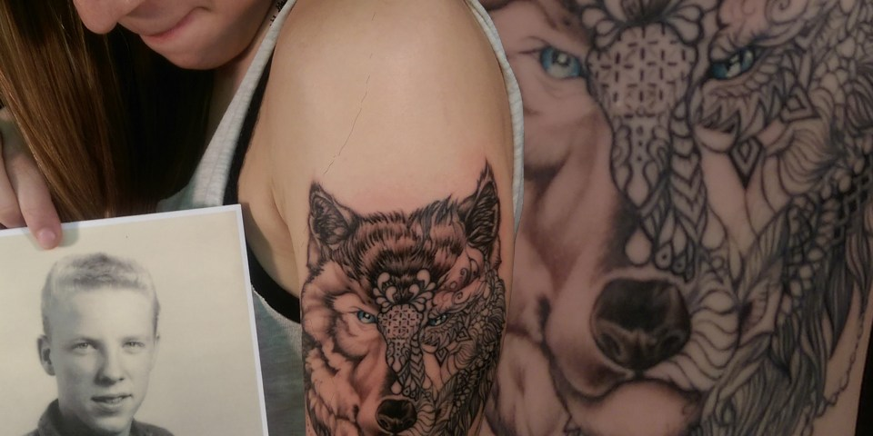 MR WOLF I Fine Art For Bodies Tempe arizona tattoo artist tariq sabur blackwork portrait lace fashion