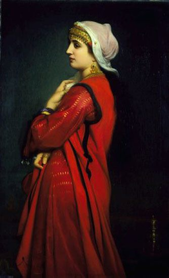 An Armenian Woman :: Charles Zacharie Landelle - 6 woman's portraits hall ( The middle of 19 centuries ) in art amd painting - paintings - masterpieces of art