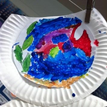 paper plate fishbowl 8