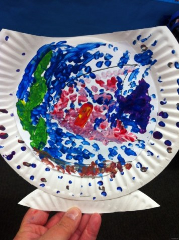 paper plate fishbowl 9