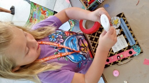 Maisie Making Art