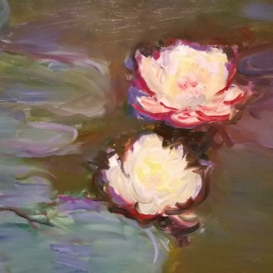 Monet Water Lilies Detail