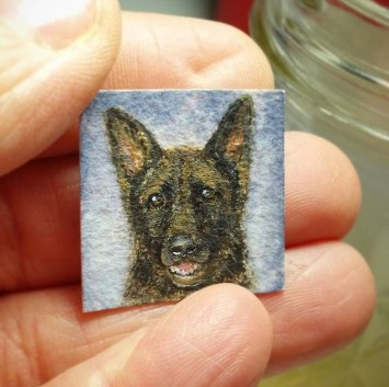 Mini pet portrait -Harley