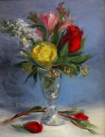 Original-Oil-Painting-Roses