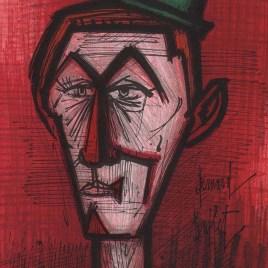 """Buffet Bernard  """"The clown on red background"""""""