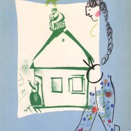 """Chagall Marc, """"La maison de mon village"""" 1960"""