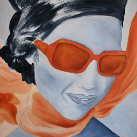 "Absi Grace, ""Foulard orange"""