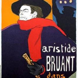 """Lautrec Henri de Toulouse, """"Bruant Ambassadeurs"""""""
