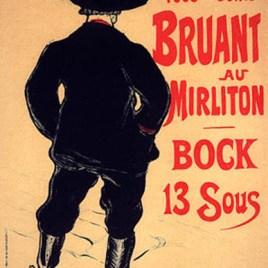 """Lautrec Henri de Toulouse, """"Bruant au Mirliton"""""""