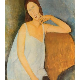 "Modigliani Amedeo, ""Portrait of Jeanne Hebuterne in blue Shirt"""
