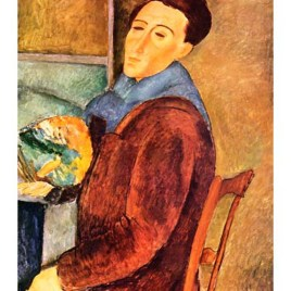 "Modigliani Amedeo, ""Self portrait"""