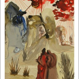 "Dali Salvardor, ""Purgatory 28 Divine forest"""