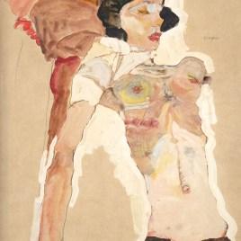 "Schiele Egon, ""Girl reclining 1911"""