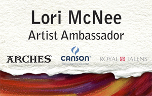 Artist Ambassador for Arches Canson Royal Talens