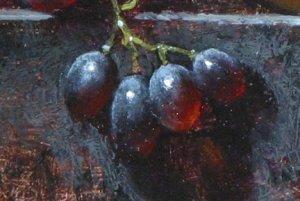 juicy red grape oil paint