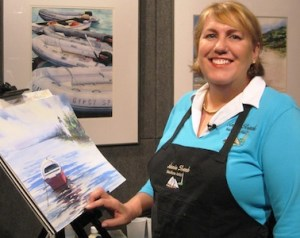 annie strack woman artist at easel