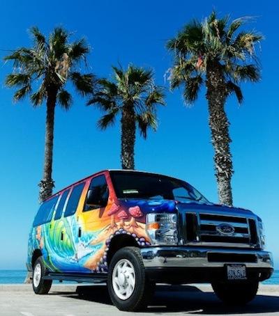 painted surfer van