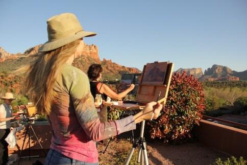 plein air painting Sedona