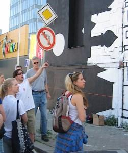 graffiti artist and students