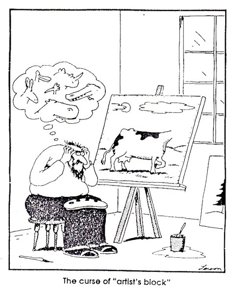 artist's block gary larson cartoon