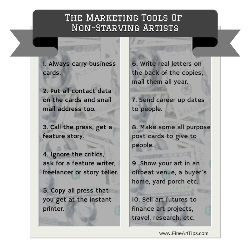 The Marketing Tools of Non Starving Artists