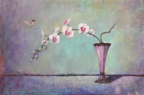 Trumpet Vase & Orchid 24x36 LMcNee 600px
