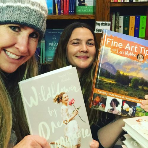 Social Media Workshop! Secrets to Grow Your Art Business in 2016 (Lori McNee pictured with Drew Barrymore)