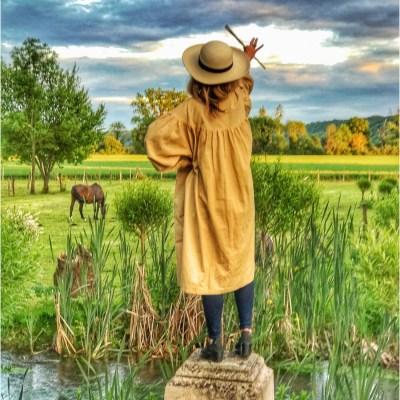 Landscape painting in Monet's Garden